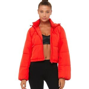 Alo Yoga Introspective Quilted Puffer Jacket Red S